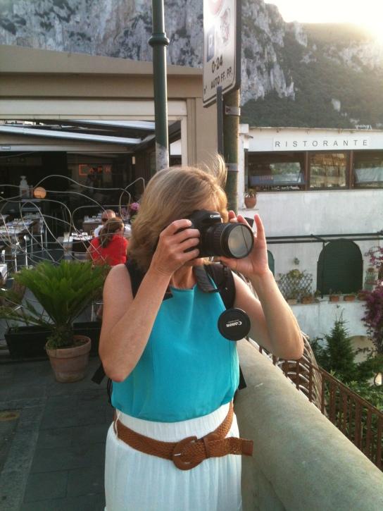 Mom in Capri