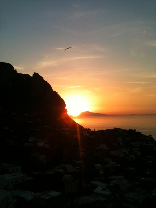 Sun Setting in Capri